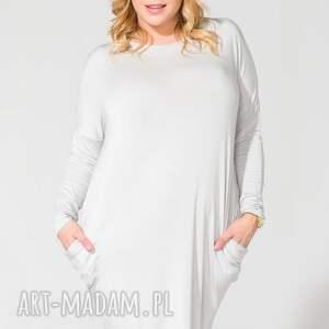 sukienki sukienka ps 6 jasnoszary plus size
