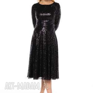 czarne sukienki cekinowa sukienka jovana