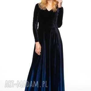 niebieskie sukienki cieniowana sukienka kathuna