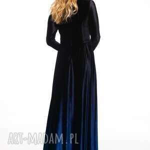 welurowa sukienki czarne sukienka kathuna