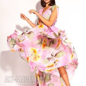 plażowa sukienki różowe sukienka kela