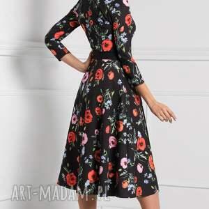 czarne sukienki rozkloszowana sukienka kensa total midi marianna