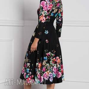 czarne sukienki sukienka kensa total midi belinda