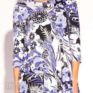 wiskozowa sukienki niebieskie sukienka kesa