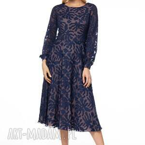 wzorzysta sukienki niebieskie sukienka keteran