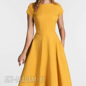 hand made sukienki sukienka klara total midi miodowy
