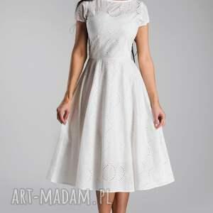 sukienka klara total midi biel haft