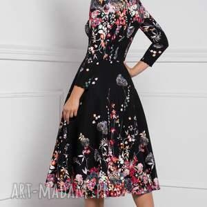 Livia Clue sukienka klara 3/4 total midi asteria - rozkloszowana na jesień