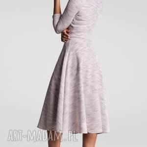 melanż sukienki różowe sukienka klara 3/4 total midi