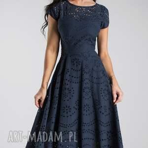 niebieskie sukienka na wesele klara total midi haft