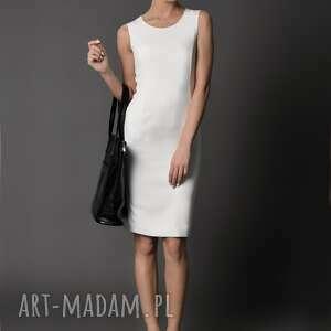 sukienki ołówkowa sukienka klasyczna, etui/ ecru