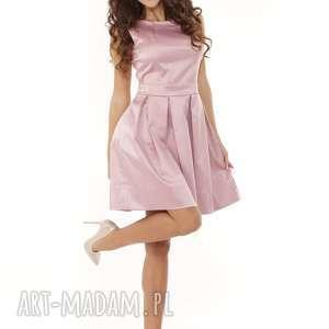sukienka sylwestrowa sukienki kontrafałda kolor brudny