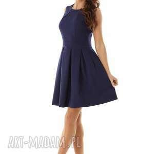 koktajlowa sukienka sukienki kontrafałda kolor