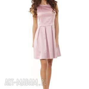 sukienki sukienka sylwestrowa kontrafałda kolor brudny