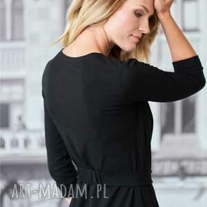 trendy sukienki sukienka kopertowa | pasja czarna