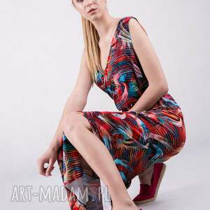 intrygujące sukienki sukienka kopertowa długa