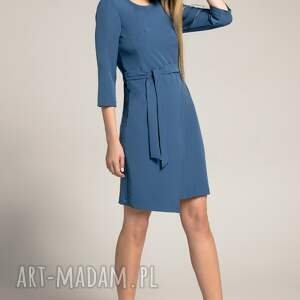 eleganckie sukienki dopasowana-sukienka sukienka kopertowa silena szafirowa