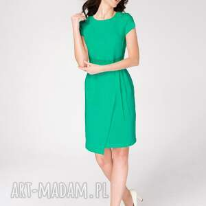 sukienki sukienka-do-pracy sukienka kopertowa silena turkusowa