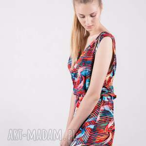 bluzki sukienki sukienka kopertowa długa