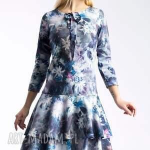 modne sukienki falbana sukienka lady midi camillia
