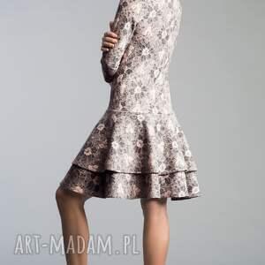 falbana sukienki różowe sukienka lady midi shanon