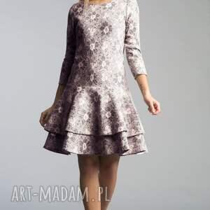 szare sukienki koronka sukienka lady midi shanon