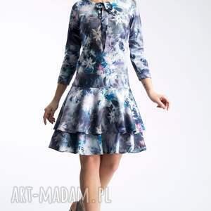 falbana sukienki fioletowe sukienka lady midi camillia