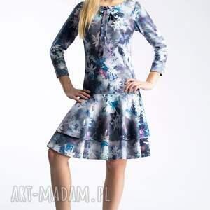 turkusowe sukienki wiązanie sukienka lady midi camillia