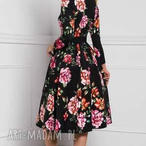 czarne rozpinana sukienka laura midi afrodyta