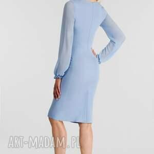 niebanalne sukienki sukienka lidia midi niebieski