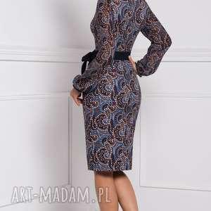 brązowe sukienki dopasowana sukienka lidia midi andrea