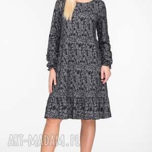 czarne sukienki falbanka sukienka lina mini felicja