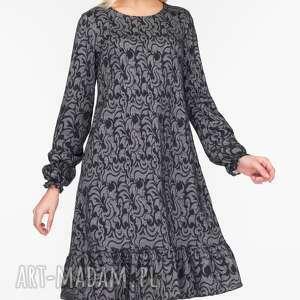 sukienki trapezowa sukienka lina mini felicja