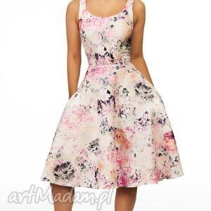kolorowe sukienki midi sukienka liza lavinia róż
