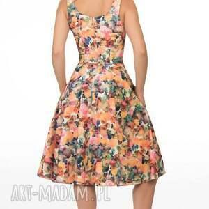 oryginalne sukienki ramiączka sukienka liza midi celine