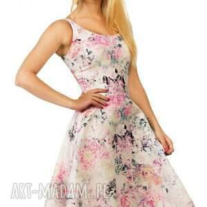 sukienki kwiaty sukienka liza midi lavinia róż