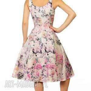 kwiaty sukienki sukienka liza midi lavinia róż