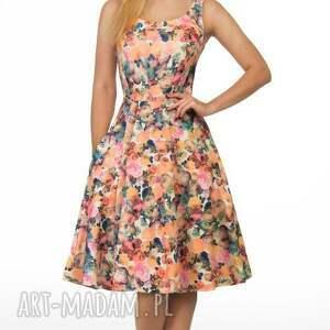 oryginalne sukienki rozkloszowana sukienka liza midi celine