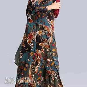 gustowne sukienki len sukienka lniana w kwiaty absolutnie
