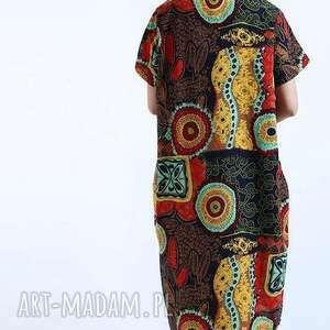 sukienki mama sukienka lniana wzorzysta