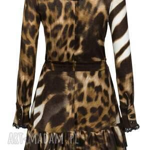 sukienki motywzwierzęcy sukienka lucretia - motyw panterka