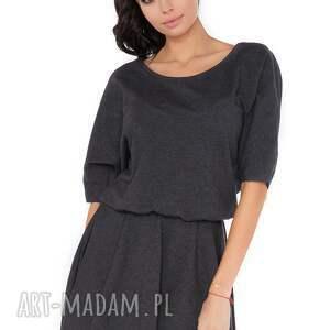 ręcznie wykonane sukienki sukienka m_1 ciemnoszary