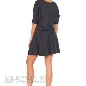 sukienki wygodna sukienka m_1 ciemnoszary