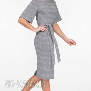 sukienki krata sukienka maja midi estera