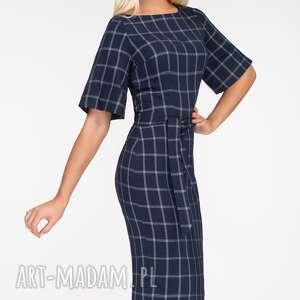 unikatowe sukienki krata sukienka maja midi gemma
