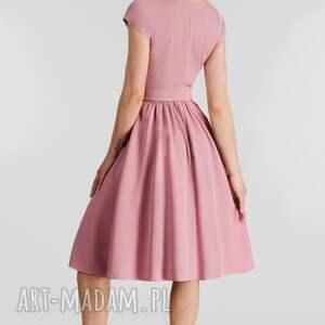 hand made sukienki sukienka marie midi brudny