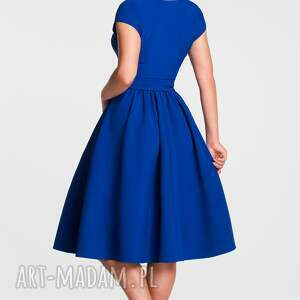 hand made sukienki sukienka marie midi szafir