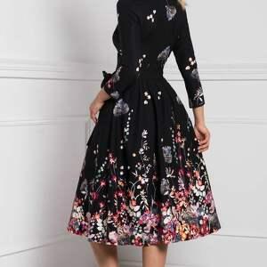 czarne sukienka marie 3/4 midi asteria
