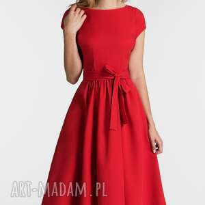 sukienki sukienka marie midi czerwień
