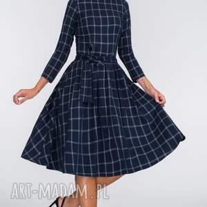 sukienki granat sukienka marie 3/4 midi gemma